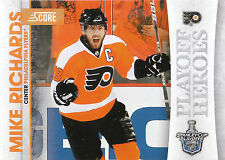 10/11 SCORE PLAYOFF HEROES STANLEY CUP #6 MIKE RICHARDS FLYERS *9012
