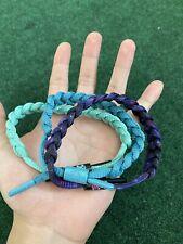 USED Rastaclat Bracelet 3 Pack Bundle Green/Blue/Purple