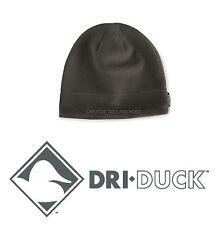 DRI DUCK Men's OR Ladies Outdoor Fleece Beanie Cap Hat BLACK with Logo NEW