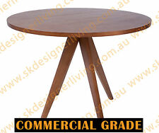SKDL Replica Walnut Jean Prouve Inspired Dining Table Round - 100D