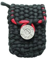 Zippo Paracord Lighter Pouch With Belt Loops, Black & Red, 40467, New In Box
