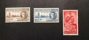 Pitcairn Islands #9-#10, Mint, VLH, #11, Mint, NH, All OG