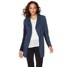 OFF AIR by Giuliana French Terry Weekender Jacket Washed Navy/Black 2X Size HSN