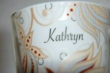 "New listing Mug engraved ""Kathryn"" - Pretty - Bone China - New Unused"