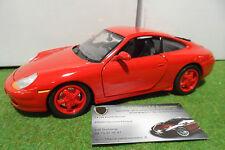 PORSCHE 911 996 Carrera 1997 Rouge à l'échelle 1/18 Base BURAGO voiture