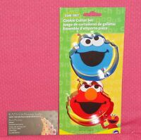 Elmo and Cookie Monster,Cookie Cutter Set,Metal,Wilton,Multi-Color,Sesame Street