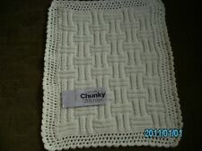 New Hand Knitted and Crocheted Babies Pram/Car Seat /Mosses Cover Acrylic and Me
