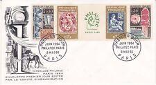 Enveloppe 1er jour FDC 1964 - Interlude Philatec Paris Comité d'Organisation