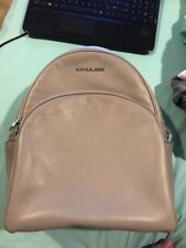 Michael Kors Large Abbey Backpack Pearl Grey Leather