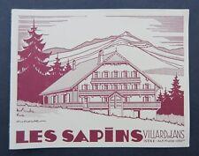 Dépliant touristique LES SAPINS VILLARD DE LANS Isère Grossouvre