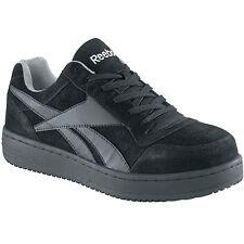 13227a0dd04 Reebok Womens Soyay Steel Toe Skate Shoes SNEAKERS Black Leather Rb191 8  Wide (e)
