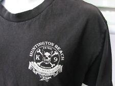 Narcotics Patrol K 9 Dogs Huntington Beach CA Police t shirt very rare est 1972