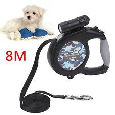 8M/50KG Large Dog Lead Leash Strongs Retractable Extendables Lockable Tape Kit