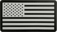 Black & White PVC Hook & Loop US Flag Patch Military American Flag Patch