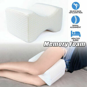Knee Leg Pillow for Side Sleepers Memory Foam Sleep Cushion Back Pain Relief