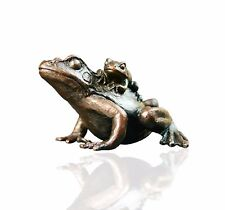 Bird Bronze Sculpture - Frog With Baby - Limited Edition. Keith Sherwin.