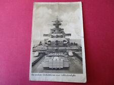 Geschütztürme Schlachtschiff 1 Schiffsstammabt.1940 AK Format Stempel,Knicke