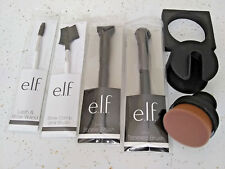 e.l.f. BROW WAND COMB LASH STIPPLE TAPERED BRUSHES ELF O! CIRCLE BRUSH with CASE