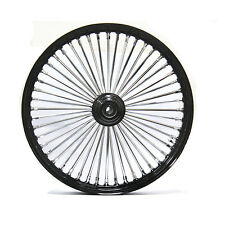 "FAT SPOKE 26"" BIG WHEEL FRONT BLACK 26 X 3.5 HARLEY FLHX STREET GLIDE 2006 2007"