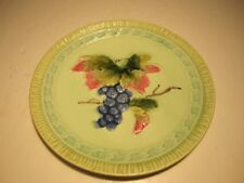 Germany Black Forest Art Pottery Colorful Majolica Fruit-Leaves Decorated Plate