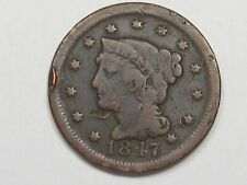 1847 US Braided Hair Large Cent Coin.  #3