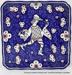 TIFFANY & CO PORCELAIN TRAY Plate GRAZIA-DERUTA Made in ITALY