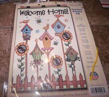 "Design Works Felt Jewel Kit WELCOME HOME Bird Houses BANNER 16"" x 24"""