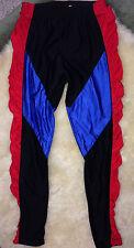 Vintage Reebok Sport 70s 80s Tights Running Pants Lycra Med/L Red Black Blue A13