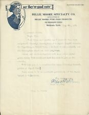 OLD VINTAGE BILLIE MOORE SPECIALTY CO. MEMPHIS TENNESSEE 1924 LETTER LETTERHEAD