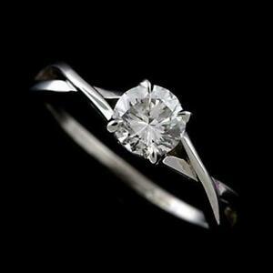 1.1 Ct Diamond Criss Cross Engagement Wedding Fine Solitaire Ring 14K White Gold