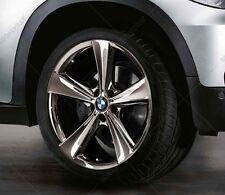 "New BMW E70 X5 Spider Spoke 128 Midnight Chrome 21"" Rear Wheel Rim 36116792686"
