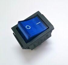 Interruptor Basculante Bipolar - Luminoso - 16A / 250V - 20A / 125V - Tecla Azul