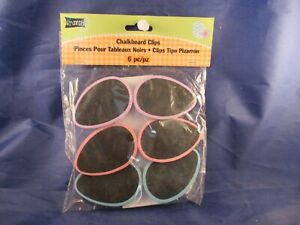 Easter Egg Shaped Chalkboard Clips New