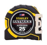 Stanley  Fatmax  25 ft. L x 1.25 in. W Auto Lock Tape Measure  Yellow  1 pk