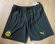 BNWT 2017/18 BORUSSIA DORTMUND BVB MENS GREEN BLACK PUMA HOME FOOTBALL SHORTS XL