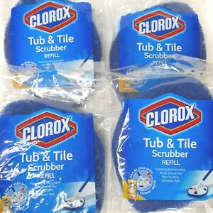 4 Clorox Tub and Tile Scrubber REFILL Pad nonscratch Antimicrobial New