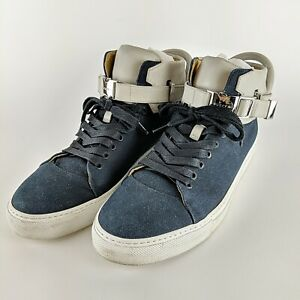 BUSCEMI Ronnie Fieg 110MM Blue & Grey Italian Designer Sneakers Size 45