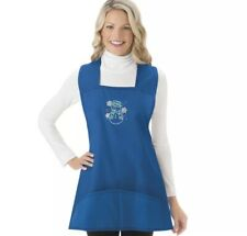Christmas Holiday Cobbler Aprons Blue snowman Large Embroidery