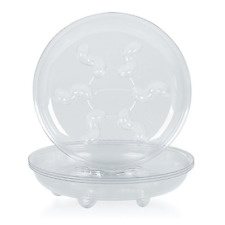 """Clear Thick Plastic Plant Saucer Drip Trays for Plant Pots Heavy Duty 5pcs 12"""""""