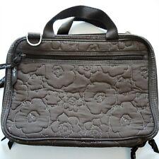 Thirty One Quilted Mocha Brown Floral Handbag Purse Shoulder Bag Purse EUC