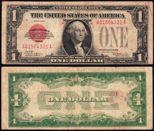 *SCARCE* 1928 $1 RED SEAL United States Note! FREE SHIPPING! A01504321A