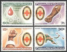 PNG 1980 Blood Donors/Donation/Red Cross/Health/Medical/Maps 4v set (n18147)
