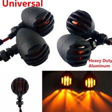 4Pcs Motorcycle Grill Bullet Blinker Turn Signal Light Amber Indicator Lamp 12V