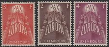 LUXEMBOURG Sc #329-31 CPL MNH - EUROPA 1957