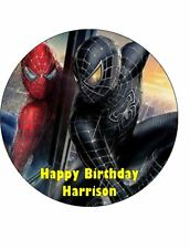 SPIDERMAN BLACK 19cm Edible Cake Topper Icing Image Birthday Decoration