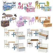 Niños Mesa Y Sillas Con Conjunto de muebles de madera chestbench para niños todlers