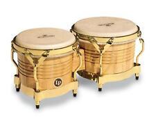 LP Latin Percussion M201-AW Bongos Matador Natur  Naturfell Gold Hardware Neu