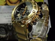 NEW Invicta Mens 50MM 18K Gold SS Speedway XL Z60 black Dial Chronograph Watch