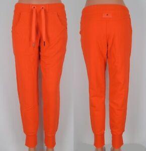 adidas Stella McCartney Damen Jogginghose Sweat Hose Trainingshose orange 38/40
