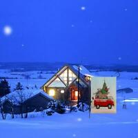 Christmas Red Truck with Gifts Double Sided Winter Flag Series Holiday E5J2